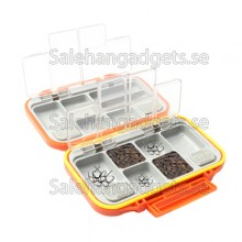 12 Fack Vattentät Fiske Fisk Lure Hook Bait Tackle Box Case