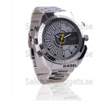 HD 1080P 8G IR Night Vision Vattentät Spy Stainless Steel Watch DVR W4000