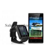 Bluetooth Smart Watch - 1,44 Tums Pekskärm, Telefonbok Synkronisering, Stegräknare, Termometer, Höjdmätare