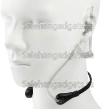 Mobiltelefoner Throat Vibration Headset (Svart, Vit)