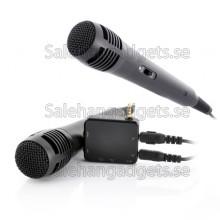 Bärbar Karaoke Spelare Med 2 Mikrofoner - Mobil, Tablet, TV