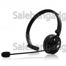 Over-The-Head Bluetooth Headset Med Boom Mic - 18 Timmars Taltid, Dual-Phone Connection