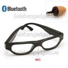 Svart Wirless Bluetooth Solglasögon Med Osynlig Spion Hörlur