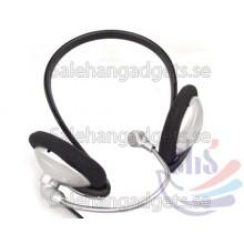 3,5 Mm Stereo Öronsnäcka Hörlurar W / Mikrofon MIC VoIP För Bärbar Dator Headset Skype