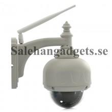 HD PTZ Trådlös IP Kamera, 3x Zoom, H.264, 720p, Night Vision, Micro SD-Kortplats