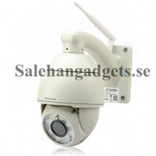 Utomhus PTZ IP Kamera - P2P, H.264, 720p, Wi-Fi, Motion Detection, 8x Lysdioder, 50 Meter Night Vision