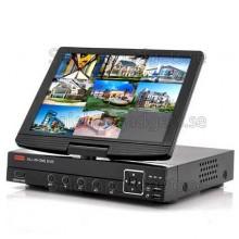 8CH DVR Med 10 Tums Skärm - H.264, HDMI