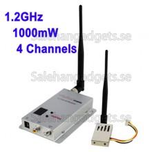 1.2GHz 1000 MW 4 Kanaler Digital Trådlös AV-Sändare Och Mottagare, Kompatibel Med Små Obemannade Flygsystem