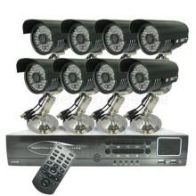 8-Kanals High-Def DVR System + 8 Övervakningskameror Och 500G HDD