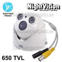 Super HADII SONY 650TVL, 6mm, IR & Vattentät, Färg Videokamera, IR Avstånd: 50m