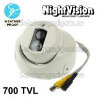 1/3 SONY 700TVL 6mm Lens Array IR & Vattentät Färg CCD Videokamera, IR Avstånd: 50m