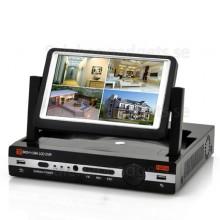 4CH DVR Med 7 Tums Skärm - H.264, D1-Upplösning, HDMI-Port