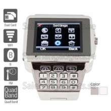 Quad Band Dual SIM WiFi Java Touch Screen Watch Phone