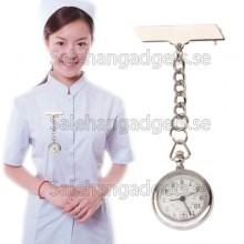 Hygienklocka, Sjuksköterska Silver Klocka Med Pin