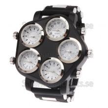 Armbandsur, 5 Stora Analoga Klockor