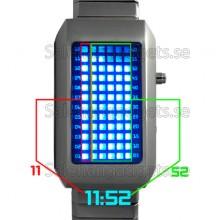 Japanese Style Medelstora Blå LED Watch