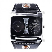 Sport Style Midja Klocka Med Wide Watch Band Design (Svart)