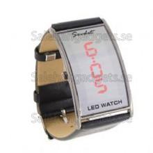 Fashionabla LED Armbandsur (Svart)