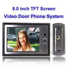 8,0 Tums TFT-Skärm Handsfree, Färg Video Dörr Phone System