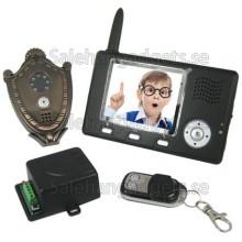 Trådlös Video Porttelefon + Automatisk Dörröppnare + Kamera Och Rörelselarm