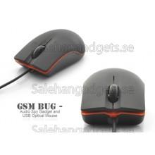 GSM Bug - Ljud Spy Gadget Och USB Optical Mouse