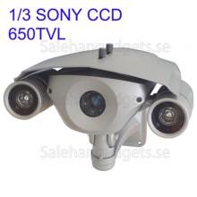 1/3 SONY Färg 650TVL CCD Vattentät Kamera, IR-Avstånd: 100m