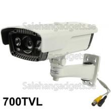 1/3 SONY 700TVL 8mm Objektiv IR & Vattentät Färg Dome CCD Videokamera, IR Avstånd: 80m