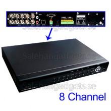 8 Kanaler Inbäddade DVR Med H.264-Komprimering