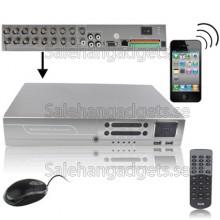 16CH DVR Med H.264-Komprimering, Stöd 2TB Hårddisk Och Mobile, Gratis DDNS, VGA: 1280x1024