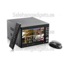 4-Kanals H.264 DVR Säkerhetssystem Med 7 Tums LCD-Skärm (2x SATA HDD Interfaces)