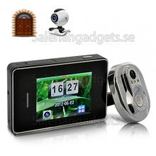 Dörr Peephole Kamerasystem - DVR, Wired Videokamera, 170 Graders Vy, 2,8 Tums Skärm