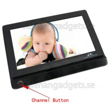 7 Tums LCD 2,4 GHz Tvåvägsljud Trådlös Baby Monitor Med, Night Vision Och Väderbeständig Konstruktion