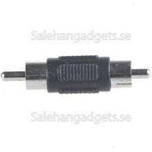Mini Straight Nickle Hane Till Hane RCA Video & Audio Converter Adapter