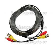 10M Meter BNC Kabel För Bevakningskamera