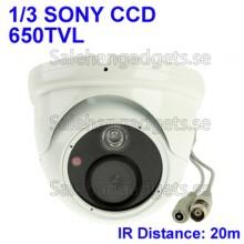 1/3 SONY 650TVL Färg Dome CCD-Kamera