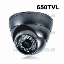 1/3 SONY CCD, 650TVL Färg IR Dome CCD-Kamera