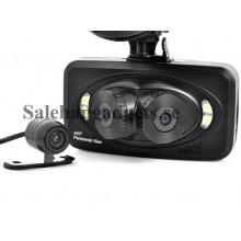 Bil Inspelning Black Box Kamera, 3 Kameror, 260 Grader Inspelningsvinkel