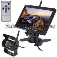 2.4GHz Trådlös Backkamera Med 7 LCD-skärm Och 420TVL Kamera, Fjärrkontroll