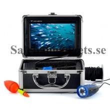 Underwater Fiske Kamera, 7 tums bildskärm, 15m kabel, Hård väska