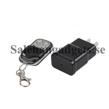 5MP Mini Dold Nätadapter Laddare Kamera Pinhole Videokamera, Rörelseigenkänning, Fjärrkontroll