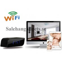 HD 720P, Wifi / IP väckarklocka Dold Kamera DVR, 160 Degree Vidvinkel, IR Night Vision