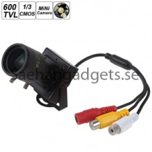 Manuell Lens Mini HD 600TVL Security Audio Video CCTV kamera, 2.8-12mm