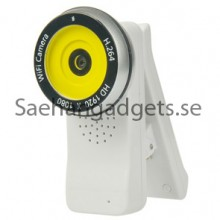 Clip Style 180 Degree Rotation H.264 Kamera 1080P WiFi Video (vit)