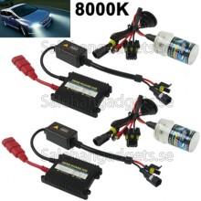 35W 2x H3 Slim HID Xenon Ljus, High Intensity Discharge Lamp, Färgtemperatur: 8000K