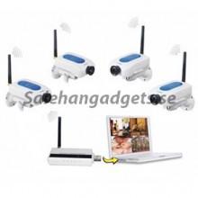 2,4 GHz Digital trådlös säkerhet Kit med 4 kanaler, Network Remote Monitoring