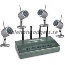 2.4GHZ Trådlös Säkerhet Kit, 4 kameror