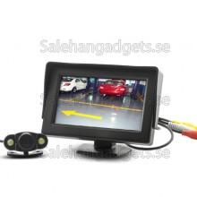 4,3 Tums Wireless Rearview Parkering Bildskärm Med Väderbeständig Nightvision Kamera
