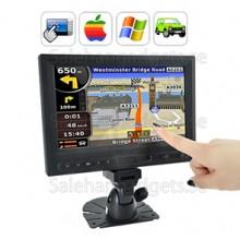 8 Tums LCD-Pekskärm Bildskärm För Bilar AV / VGA / HDMI-Utgång