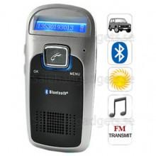 Handsfree Bluetooth Car Kit (Solar Powered), Inbyggd Mikrofon, Support TF-Kort