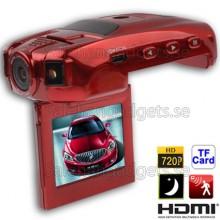 2,0 Tums TFT LCD-Skärm 1280x720p Bil Style Fordon DVR, Support Loop Inspelning